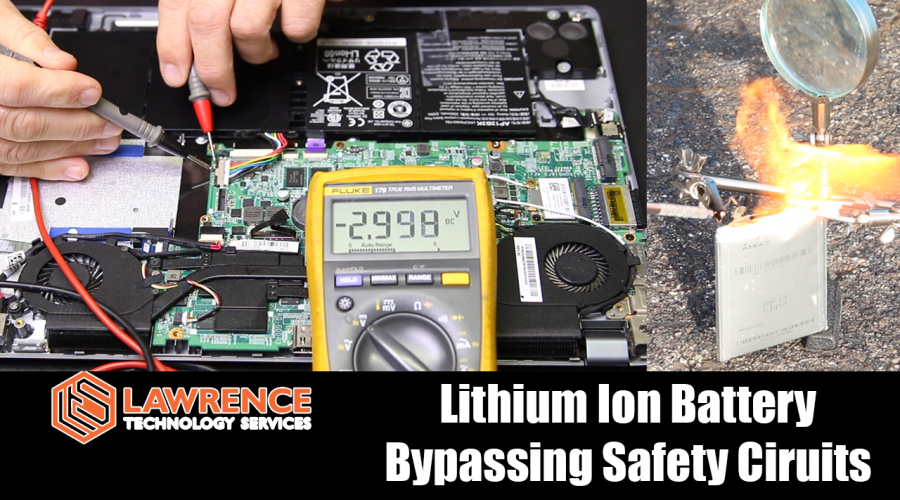 Lithium Ion Battery Tear Down, Safety Circuits & FIRE!!!!