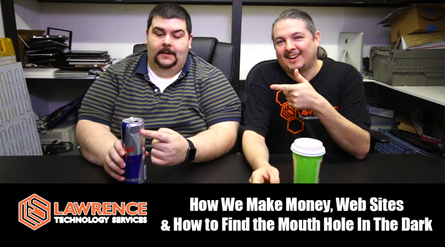 February 23, 2017 Vlog: How We Make Money, Web Sites and How to Hit the Mouth Hole in the Dark.
