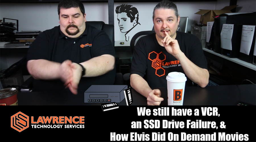 VLOG March 16th 2017: We still have a VCR, an SSD Drive Failure, & How Elvis Did On Demand Movies
