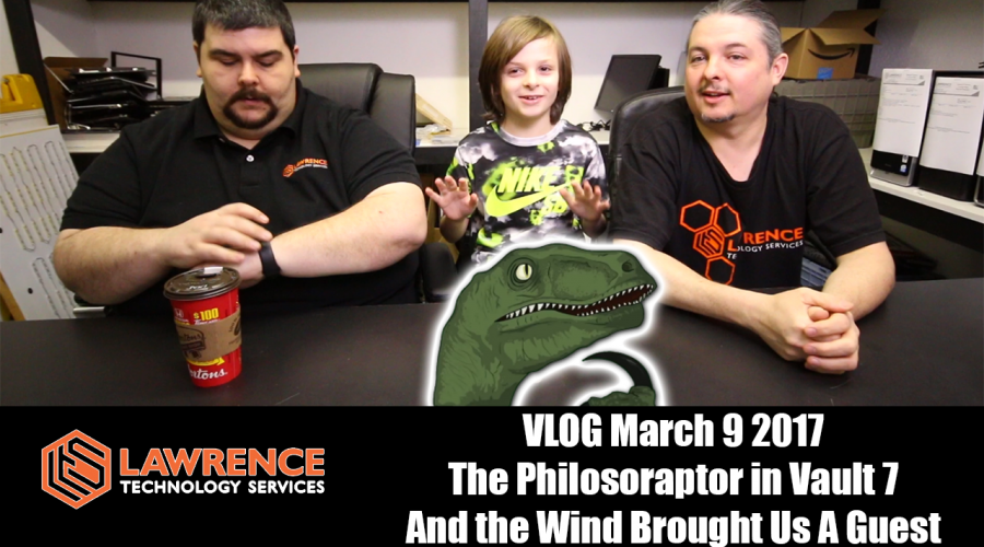 VLOG March 9 2017 The Philosoraptor in Vault 7 And the Wind Brought Us A Guest