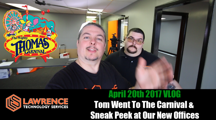 April 20th 2017 VLOG: Tom Went To The Carnival & Sneak Peek at Our New Offices