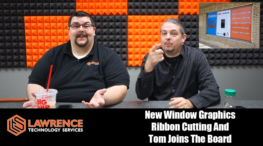 VLOG Thursday 6/29/17: New Window Graphics Ribbon Cutting And Tom Joins The Board