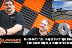 VLOG 7/27/17: Microsoft Trips, Proper Duct Tape Usage, Tom Takes Flight, & Project Pac-Man