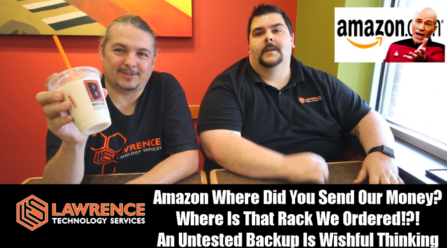VLOG Thursday 8/10/17: Amazon WTF Money? Where Is That Rack? An Untested Backup Is Wishful Thinking