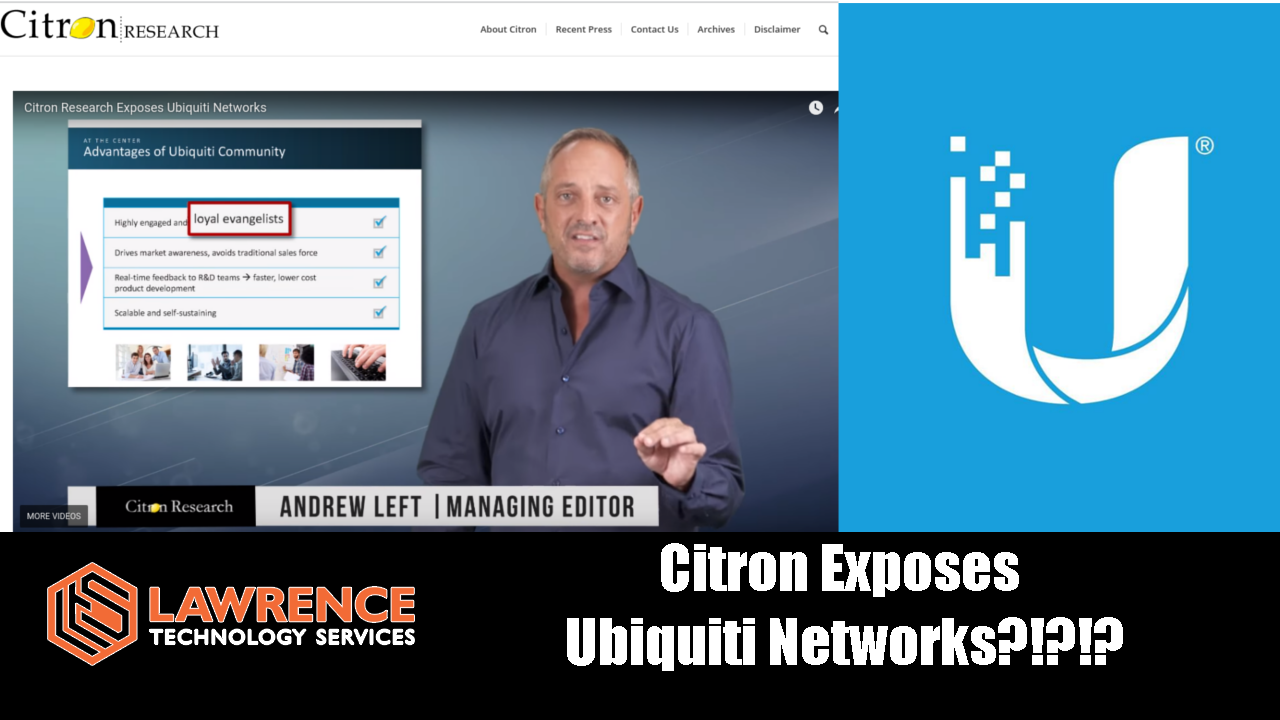 Citron Research Exposes Ubiquiti Networks???