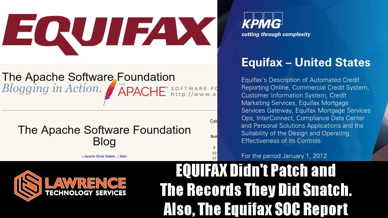 EQUIFAX Didn't Patch and The Records They Did Snatch!