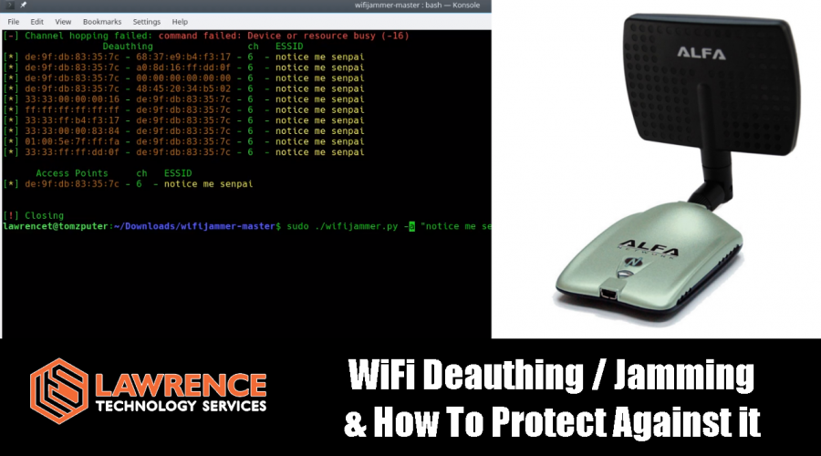 WiFi Deauthing / Jamming & How To Protect Against it