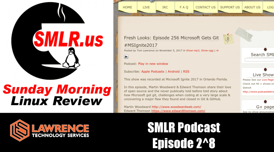 Sunday Morning Linux Review Podcast Episode 256 Microsoft Gets Git #MSIgnite2017