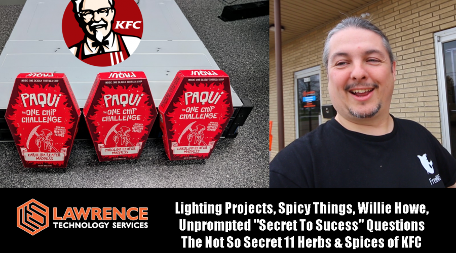 """VLOG Thursday 11/2/2017: Lighting Projects, Spicy, """"Secret To Sucess"""" KFC Secret 11 Herbs & Spices"""