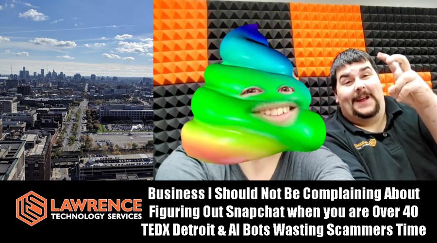 VLOG Thursday 11/9/17: Business I Should Not Be Complaining About, Snapchat Over 40, & TEDX Detroit