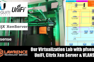 A Guided Tour of Our Virtualization Lab with pfsense, UniFi, Citrix Xen Server & VLANS.