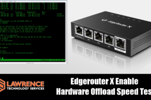 Ubiquiti Edgerouter X Enable Hardware Offload Speed Test