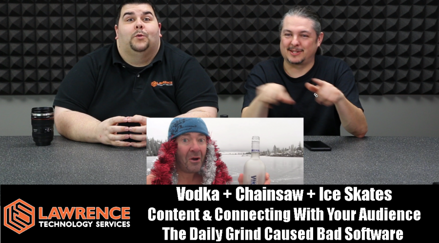 VLOG Thursday 1/4/18:Chainsaw Ice Skates & Connecting With Your Audience & The Bad Software Grind