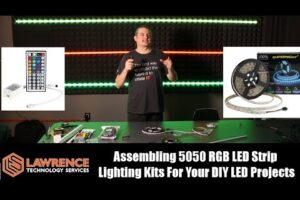 Assembling The 5050 RGB LED Strip Lighting Kits For Your DIY LED Projects or Studio