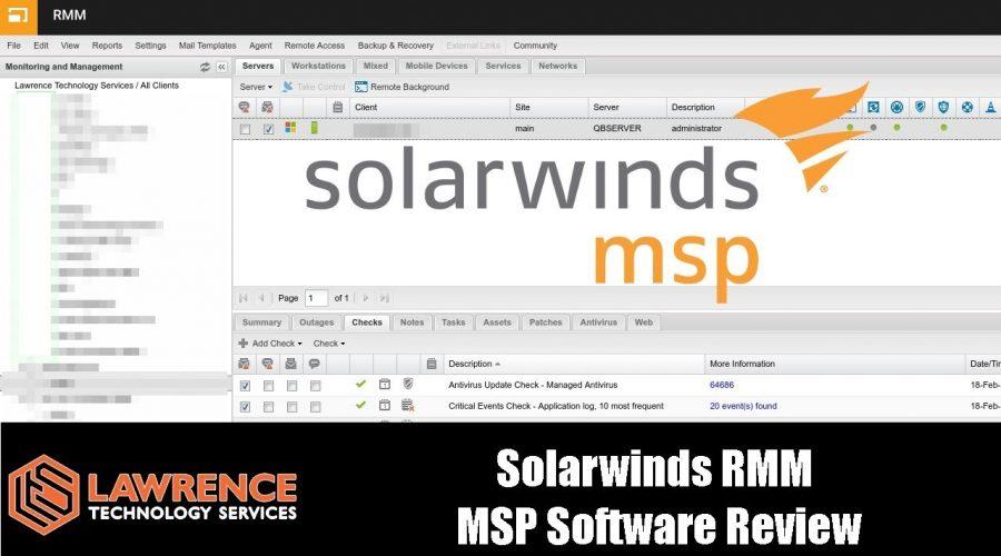 Solarwinds RMM  MSP Software Review