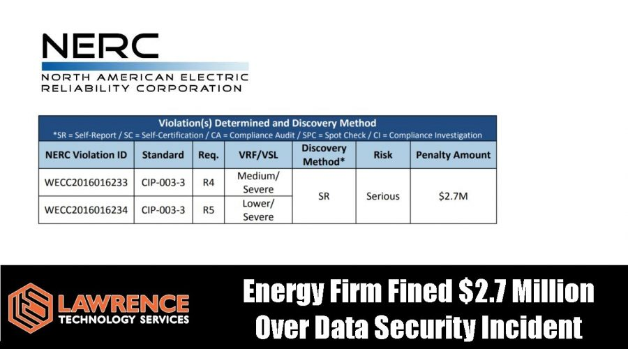 Energy Firm Fined $2.7 Million Over Data Security Incident Caused By Contractor