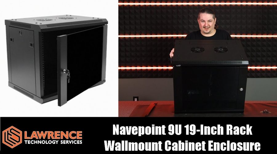Navepoint 9U  IT Wallmount Cabinet Enclosure 19-Inch Server Network Rack