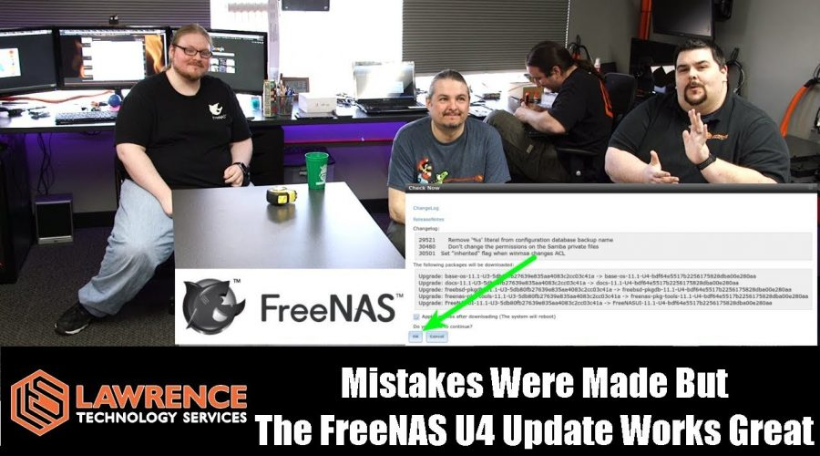 Mistakes Were Made (Tom might have clicked OK) But The FreeNAS U4 Update Works Great!