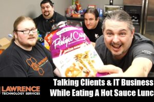 Lunch Meeting Jan 2018: Talking Clients & IT Business While Eating A Hot Sauce Lunch