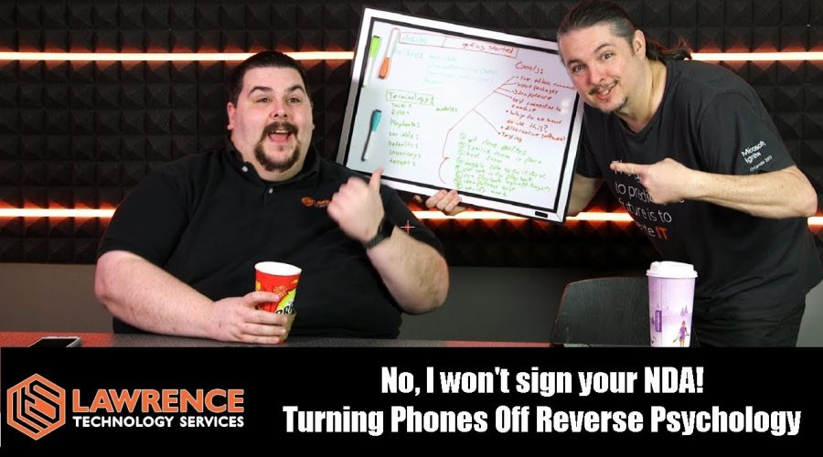 VLOG Thursday Episode 58: No, I won't sign your NDA! Turning Phones Off Reverse Psychology
