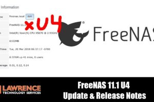 FreeNAS 11.1 U4  Update & Release Notes Samba Bug Fixed and How To Roll Back an Update