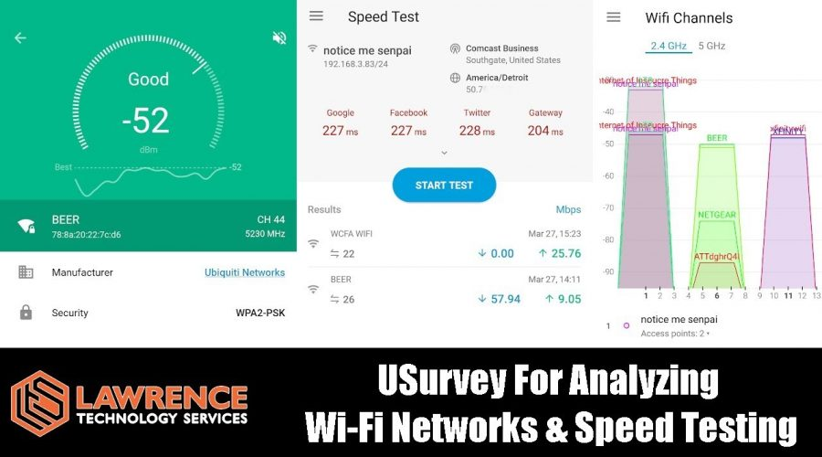 UBNT / UniFi USurvey For Analyzing  Wi-Fi Networks & Speed Testing