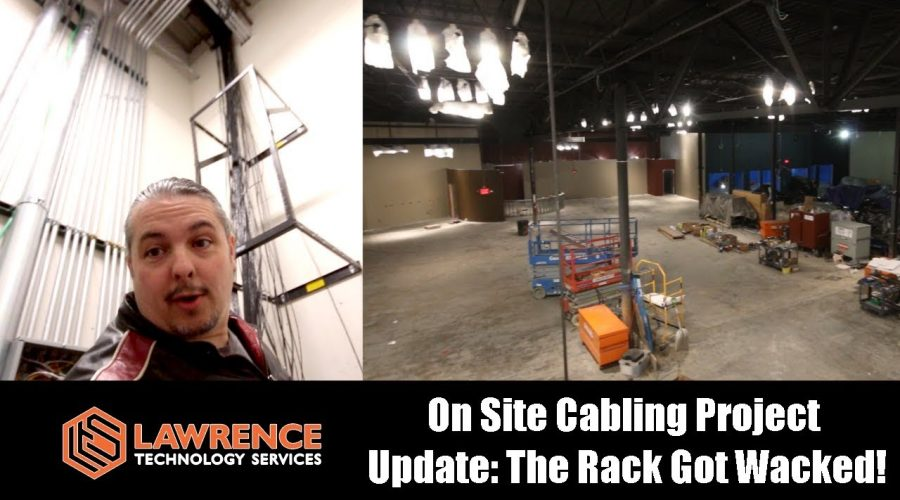 On Site Cabling Project  Update: The Rack Got Wacked! & Pulling wires through tubes with pull string