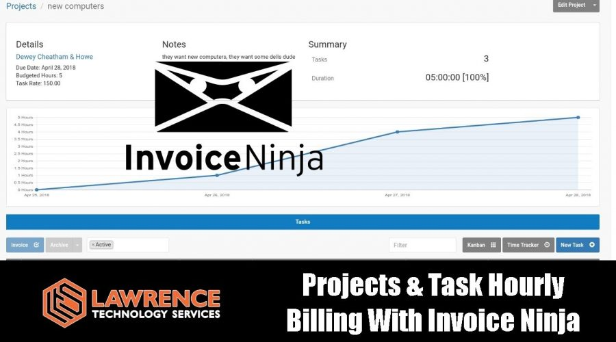 Doing Projects & Task Hourly Billing With Invoice Ninja
