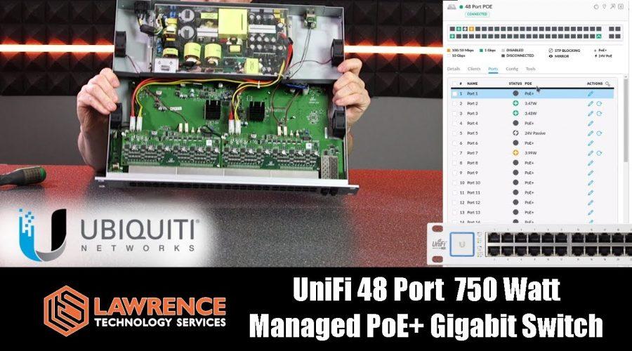 UniFi 48 Port 750 Watt Managed PoE+ Gigabit Switch with 10 Gigabit SFP+ Review