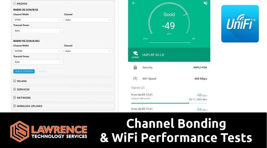 What is Channel Bonding & WiFi Performance Tests 20MHz vs 80MHz ( UniFI VHT80 vs VHT20)