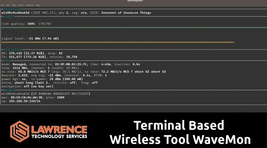 Linux Terminal Based  Wireless Tool WaveMon