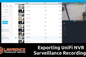 How To Export Surveillance Video From a UniFi NVR
