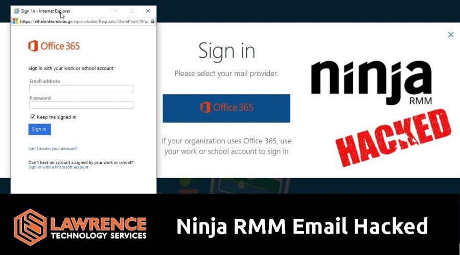 MSP Tool Provider Ninja RMM Had A Sales Email Hacked That Did Not Appear to Have 2FA Turned On