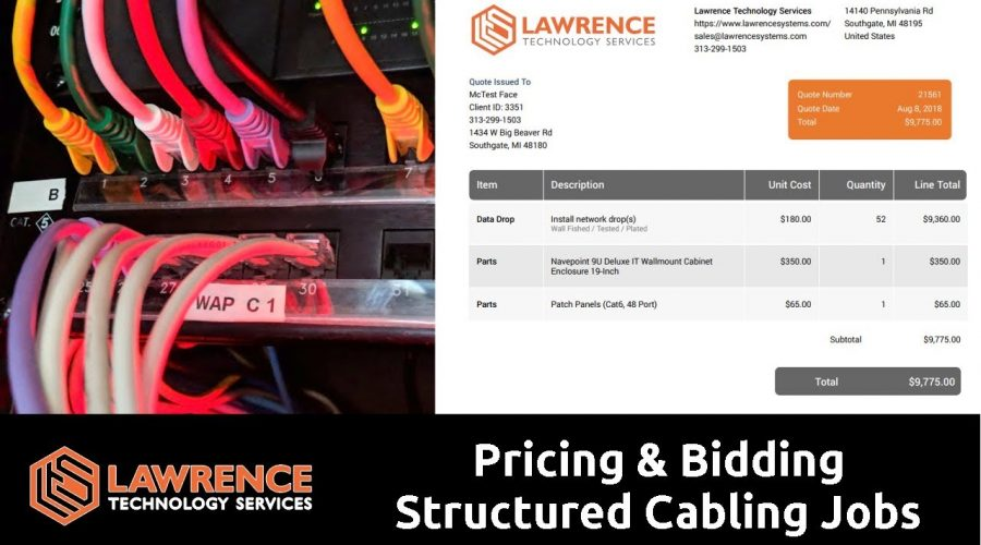 How We Do Pricing & Bidding For Structured Cabling Jobs From Start To Finish