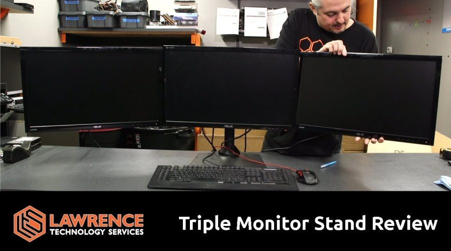 EZM Deluxe Triple Monitor Mount Stand Review Supports up to 3 28″ Monitors