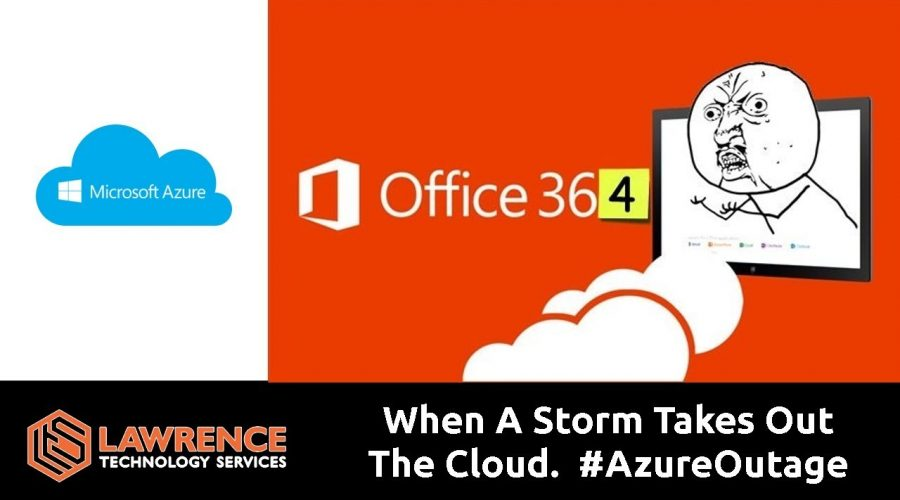 Storm Takes Out The Cloud  #AzureOutage #Office365Down September 2018