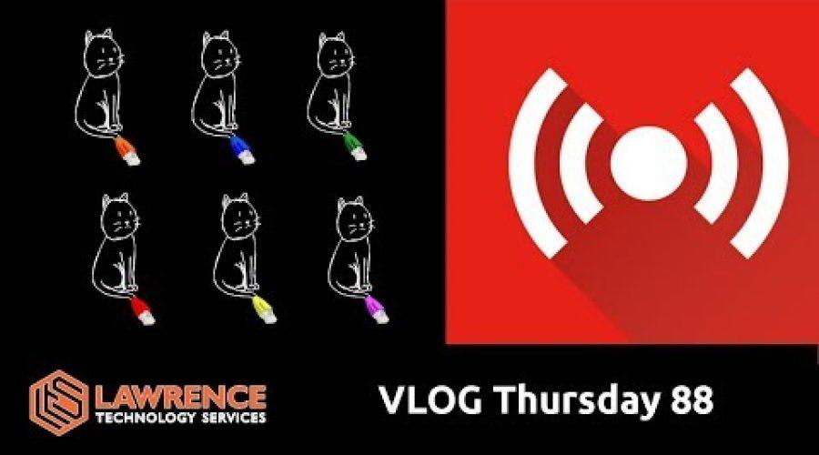VLOG Thursday Episode 88 CAT 6 & Will CodelQ Make My LiveStream Better?