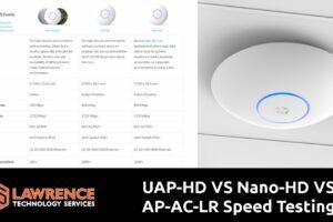 UniFi WiFi Speed Comparison UAP-HD VS Nano-HD VS AP-AC-LR