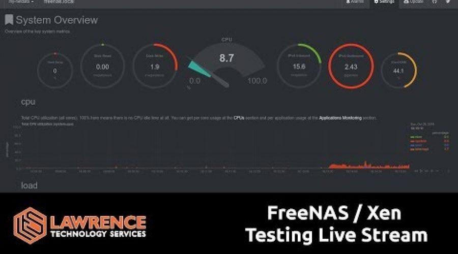 FreeNAS / Xen  Testing Live Stream Part2