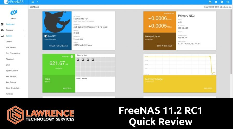 Quick Review: FreeNAS has released 11.2 RC1