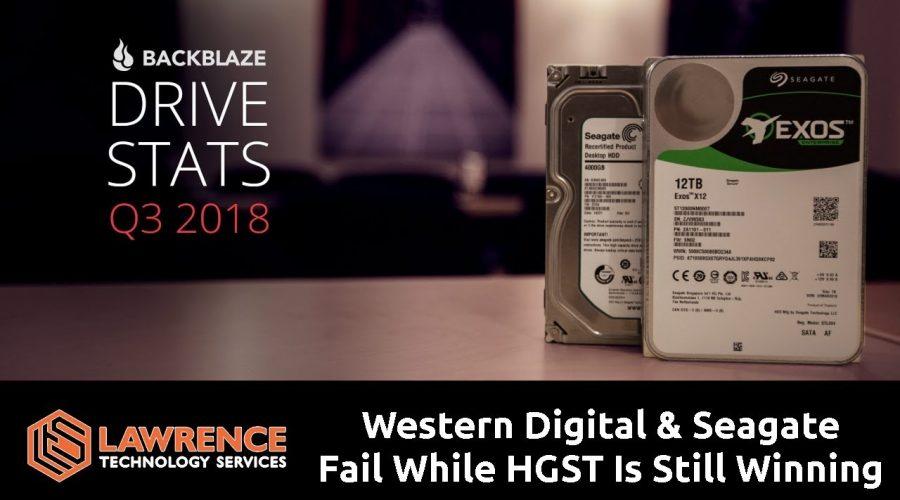 Backblaze Hard Drive Stats for Q3 2018: HGST Still Spinning and Winning