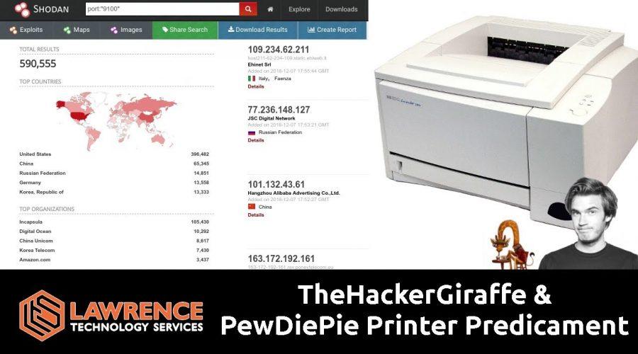 TheHackerGiraffe & PewDiePie Printer Predicament Using The Printer Exploitation Toolkit PRET
