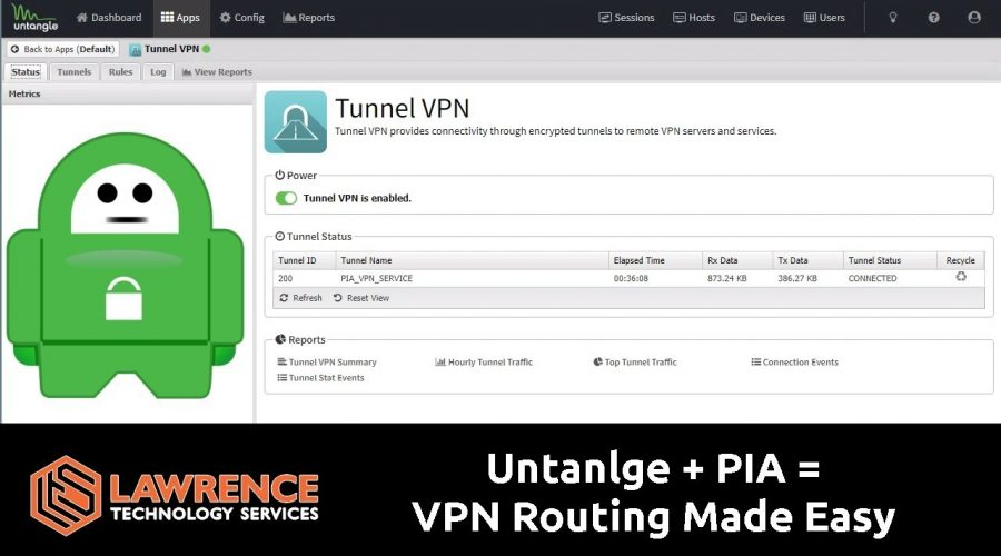 How to Setup Untangle With PIA Tunnel Routing With Policies in Less Than 10 Minutes