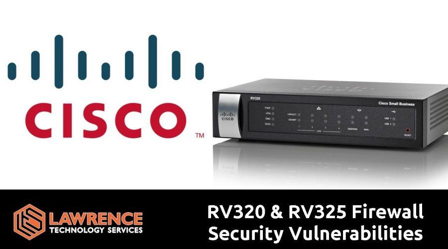 Cisco RV320 & RV325 Firewall Security Vulnerabilities CVE-2019-1653 & CVE-2019-165