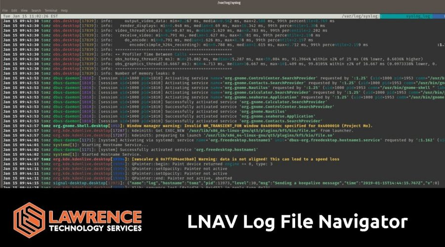 LNAV: Easy Color Coded Real Time Log File Viewer for Linux
