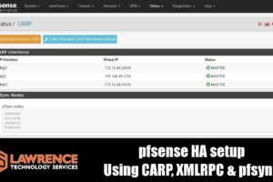 pfsense High Availability Setup and Testing Using CARP, XMLRPC & pfsync