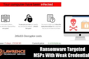 MSPs With Weak Credentials Compromised & Deploying Ransomware to Their Clients