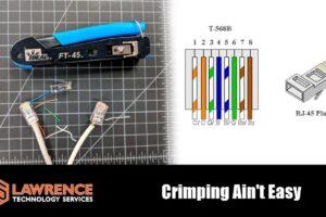 Crimping RJ45 Ends the easy way with the Ideal FT-45 Crimper