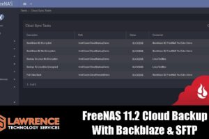 FreeNAS 11.2 Cloud Backup, Restore & Encryption With Backblaze & SFTP