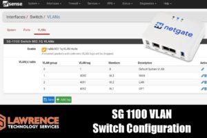 SG-1100 VLAN Switch Configuration